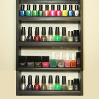 Medium Nice Rack Nail Polish Rack in Black or by BeautyPopShop