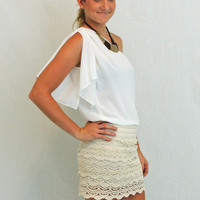 Ivory You&#x27;ve Got The Love Skirt in Ivory - &amp;#36;35.00 | Daily Chic Bottoms | International Shipping