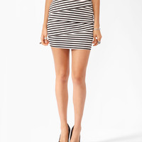 Striped Asymmetrical Bandage Skirt | FOREVER21 - 2011271081