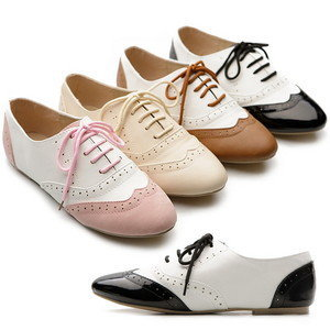 New Womens Shoes Classics Dress Lace Ups Oxfords Flats Low Heels Multi Colored | eBay