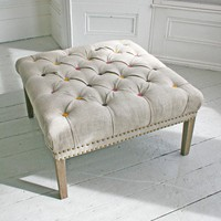 Bath Button Footstool With Coloured Buttons - Chairs  Stools - Furniture