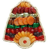 Broadway Basketeers Dried Fruit Holiday Bell Gift Basket