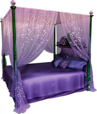 Magical Purple Canopy Bed Set From Wishwallme