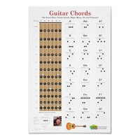 Guitar Chords and Fretboard Poster from Zazzle.com