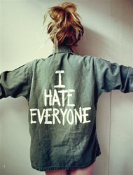 I HATE EVERYONE Vintage Army Jacket/Shirt - One Size