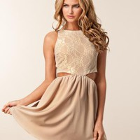 Lace Cut Out Dress - Rare London - Creme - Festklänningar - Kläder - NELLY.COM Mode online på nätet