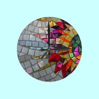 Floral Mosaic Wall Clock from Zazzle.com ~ JUSTART