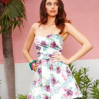 Lipsy Bandeau Floral Prom Dress - Lipsy