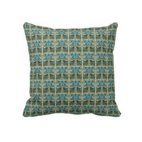 Vintage Art Nouveau Floral Pattern Pillows from Zazzle.com