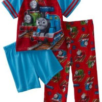 AME Sleepwear Boys 2-7 Thomas the Train Iconic Thomas 3 Piece Pajama Set