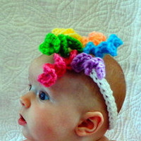 Baby headband -  newborn korker headband by crochetedcuddles