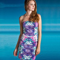 Lipsy Printed Bandeau Dress - Lipsy