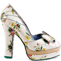 Irregular Choice's Multi-Color Flowering Quince - White for 149.99 direct from heels.com