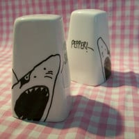 Shark Salt and Pepper Shakers by BrightonCrock