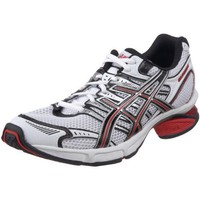ASICS Men`s GEL-Fluent 3 Running Shoe,White/Black/Red,10.5 M US