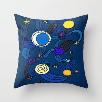 The Celestial Environment Throw Pillow by DuckyB (Brandi)