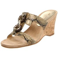 AK Anne Klein Women`s Coho Wedge Sandal,Beige Synthetic,8.5 M US