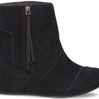 BLACK SUEDE WOMEN'S DESERT WEDGE HIGHS