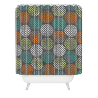 Loni Harris Summer Dots Shower Curtain