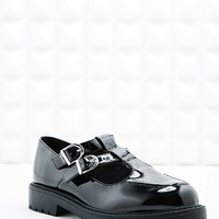 Jax T-Bar Heavy Sole Shoe in Black - Urban Outfitters