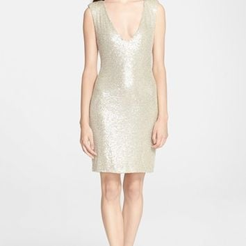 Alice + Olivia Bead & Paillette Embellished Dress