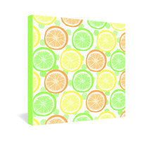 Lisa Argyropoulos Citrus Wheels And Dots Gallery Wrapped Canvas