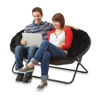 Idea Nova Double Saucer Chair in Black