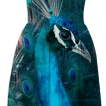 Blue Peacock Summer Dress created by ErikaKaisersot | Print All Over Me