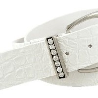 Point Zero's Chic Croc Synthetic Patent Leather Belt for Women