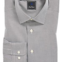 David Donahue Regular Fit Houndstooth Dress Shirt