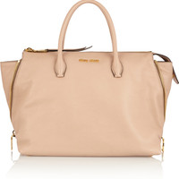Miu Miu | Madras textured-leather tote | NET-A-PORTER.COM