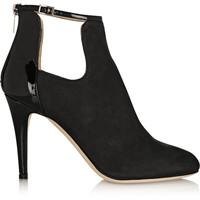 Jimmy Choo | Livid nubuck and patent-leather ankle boots | NET-A-PORTER.COM
