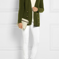 Balmain | Cable-knit wool cardigan | NET-A-PORTER.COM
