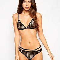 ASOS Giant Fishnet Triangle Bra