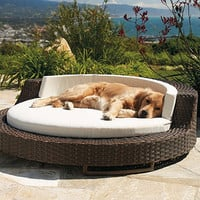 Outdoor Wicker Pet Bed - Frontgate