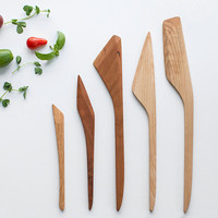 Wooden Cooking Utensil Set (5 pieces) by Stephane Hubert Design | Madesmith