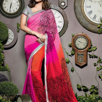 Buy Traditional Designer Wear Chiffon Saree Shibori Fashion