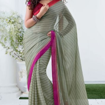 Buy Traditional Designer Wear Chiffon Saree, Special Category at Shibori Fashion