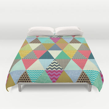 New York Beauty triangles Duvet Cover by Sharon Turner | Society6
