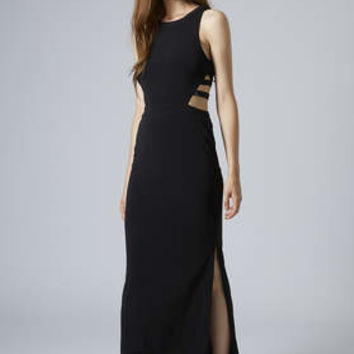 Cage Side Maxi Dress - Black
