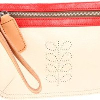 Orla Kiely Colour Block Leather U12SB-CBL172/199/00 Wallet,Cream,One Size