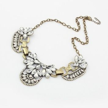 Vintage Gold Bib - Statement Necklace