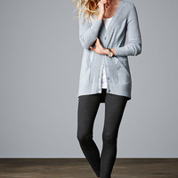 Mixed-stitch Cardi - A Kiss of Cashmere - Victoria's Secret