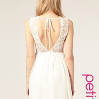ASOS | ASOS PETITE Exclusive Open Back Lace Mini Dress at ASOS