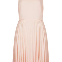 MIDI PLEAT OVERLAY DRESS