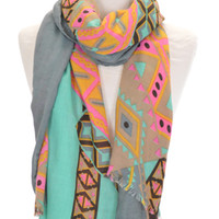 X Marks the Spot Scarf :: NEW ARRIVALS :: The Blue Door Boutique
