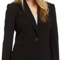 Calvin Klein Women&#x27;s Single Button Suit Jacket