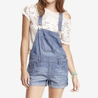 2 1/2 INCH DENIM OVERALL SHORTS