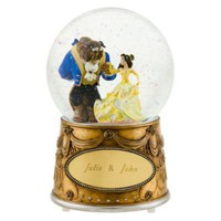 Personalized Beauty and the Beast Snowglobe | Disney Store Exclusive | Disney Store