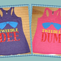 Tri Blend Tank Top Tweedle Dee , Tweedle Dum